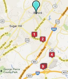Buford GA Map