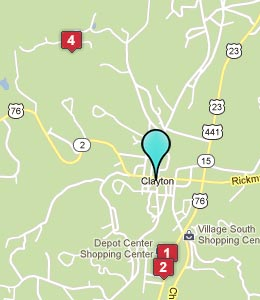 Map of Clayton, GA hotels