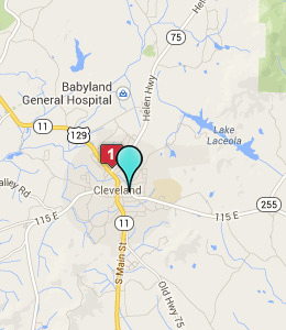 Map of Cleveland, GA hotels