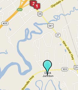 Map of Dock Junction, GA hotels