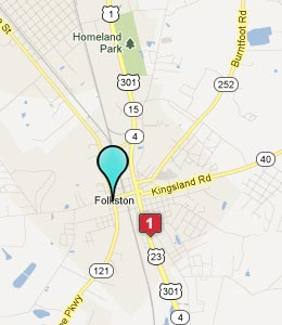 Map of Folkston, GA hotels