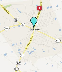 Map of Glennville, GA hotels