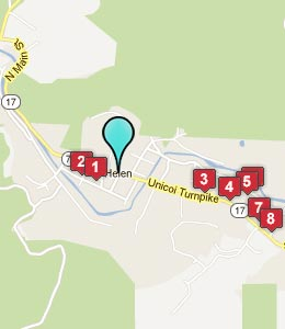 Map of Helen, GA hotels
