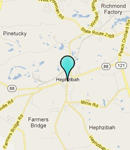 Map of Hepzibah, GA hotels