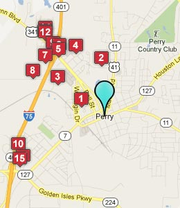 Map of Perry, GA hotels
