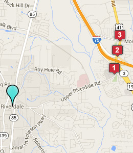 Map of Riverdale, GA hotels