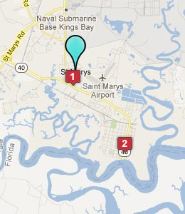 Map of St Marys, GA hotels