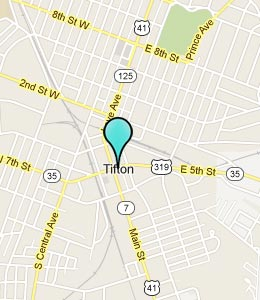 Map of Tifton, GA hotels