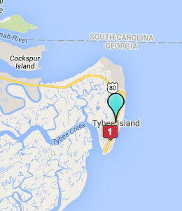 Map of Tybee Island, GA hotels