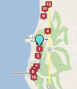 Map of Kaanapali, HI hotels