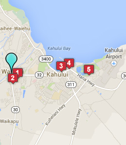wailuku info wailuku group hotel rates hotel tips hawaii hotels    Wailuku Map