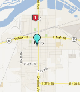 Map of Burley, ID hotels