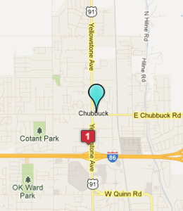 Map of Chubbuck, ID hotels