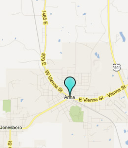 Map of Anna, IL hotels