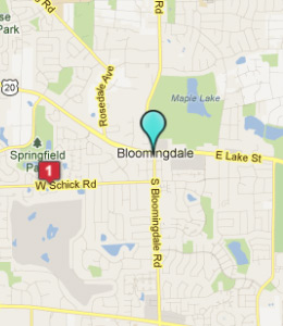 Map of Bloomingdale, IL hotels