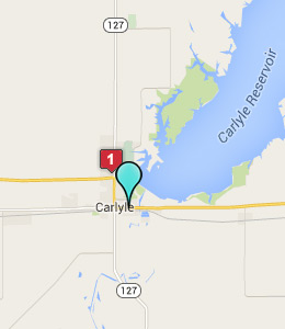 Map of Carlyle, IL hotels