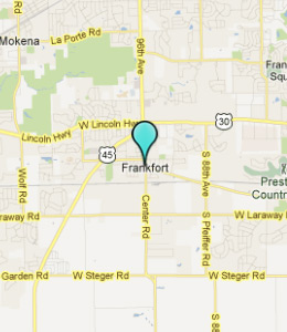 Map of Frankfort, IL hotels