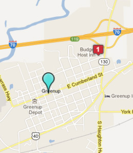 Map of Greenup, IL hotels