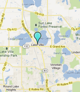 Map of Lake Villa, IL hotels