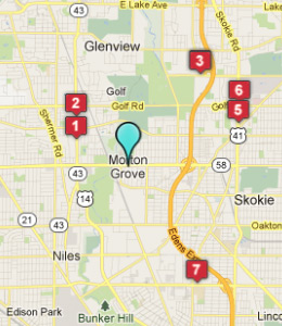 Map of Morton Grove, IL hotels