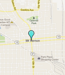 Map of Mount Vernon, IL hotels