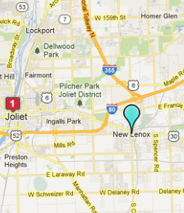 Map of New Lenox, IL hotels