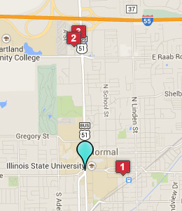 Map of Normal, IL hotels