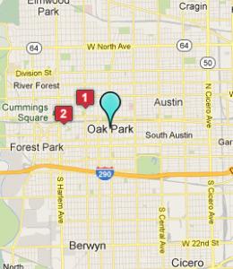 Oak Park Chicago Map.Oak Park Illinois Map Bnhspine Com