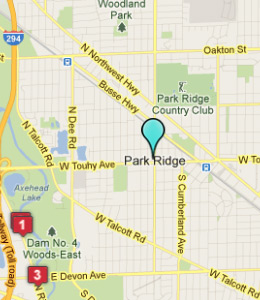 Map of Park Ridge, IL hotels