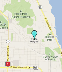 Map of Peoria Heights, IL hotels