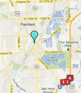 Map of Plainfield, IL hotels