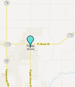Map of Poplar Grove, IL hotels