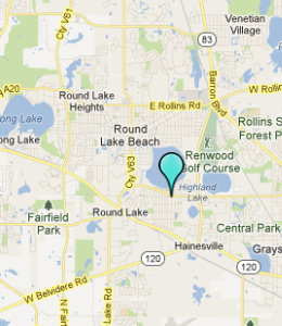 Map of Round Lake Park, IL hotels