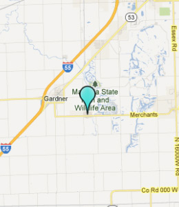 Map of South Wilmington, IL hotels