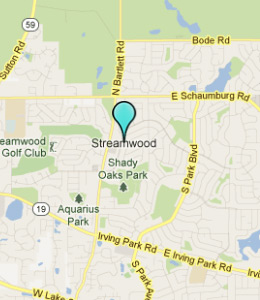 Map of Streamwood, IL hotels