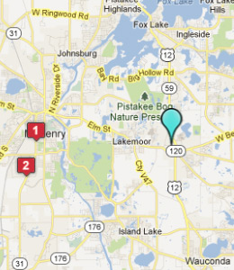 Map of Volo, IL hotels