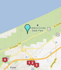 Map of Indiana Dunes, IN hotels