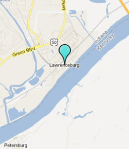 Map of Lawrenceburg, IN hotels