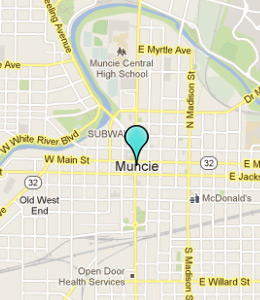 Map of Muncie, IN hotels