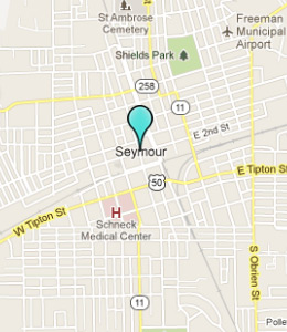 Map of Seymour, IN hotels