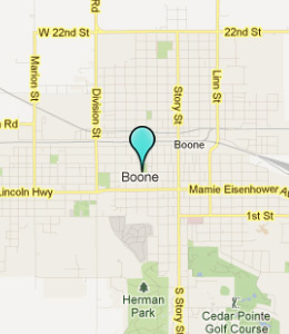 Map of Boone, IA hotels