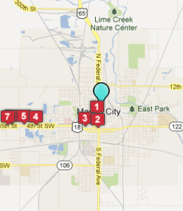 Map of Mason City, IN hotels
