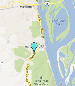 Map of McGregor, IN hotels