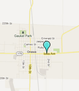 Map of Onawa, IN hotels