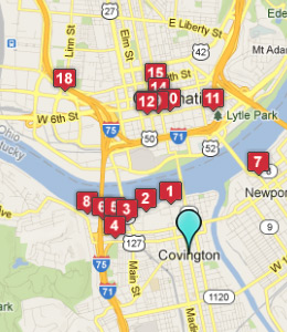 Covington KY Map