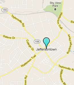 Map of Jeffersontown, IN hotels