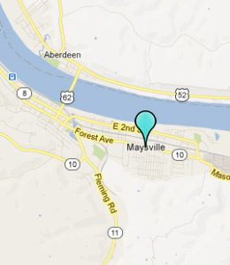 Map of Maysville, IN hotels