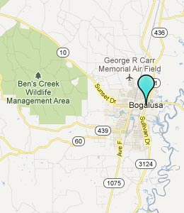 Map of Bogalusa, LA hotels