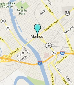 Map of Monroe, LA hotels