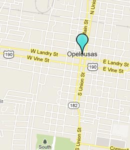 Map of Opelousas, LA hotels